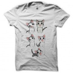 tee shirt chi the white cat sublimation