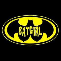 bat girl t-shirt black sublimation