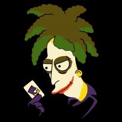 t-shirt joker simpson black sublimation
