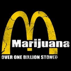marijuana tee shirt over one billion stoned black sublimation
