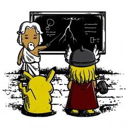 Zeus teacher shirt white...