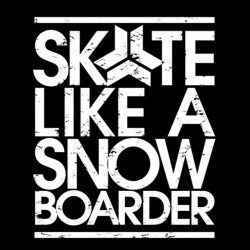tee shirt skate like a snowboarder black sublimation