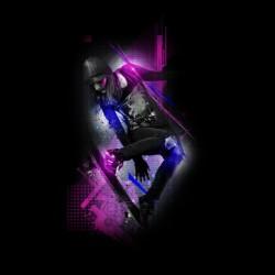 tee shirt skateboard design black sublimation