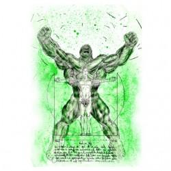 t-shirt hulk vitruvio white...