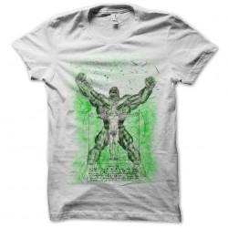 t-shirt hulk vitruvio white sublimation