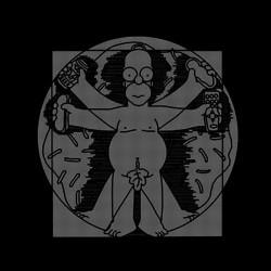 t-shirt hombre vitruvio homer simpson black sublimation