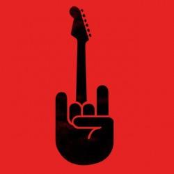 tee shirt guitare rock  sublimation