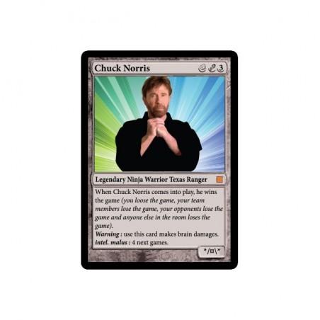 Magic Gathering parody Chuck Norris white sublimation t-shirt