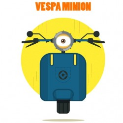 tee shirt vespa minnion...