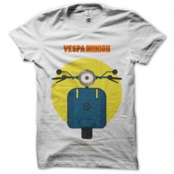 vespa minnion white sublimation tee shirt