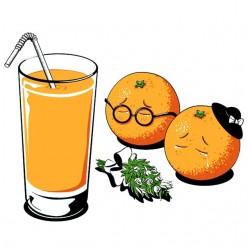 tee shirt RIP  orange...
