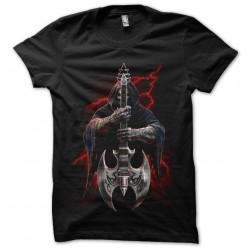 guitar t-shirt devil black...