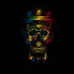 shirt skull 3d black sublimation