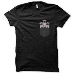 pocket pug t-shirt black...