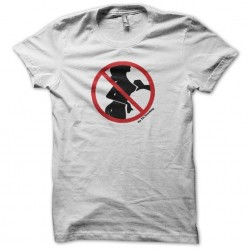 No Tit Touching panel t-shirt white sublimation