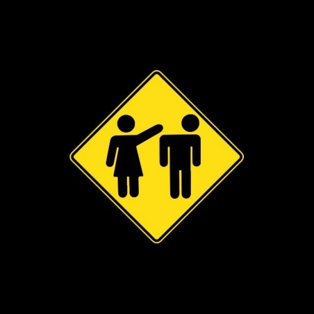 T-shirt billboard attention woman violent black sublimation
