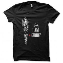 tee shirt I am groot black...