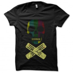 tee shirt tv skull black...
