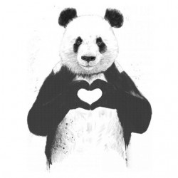 love t-shirt white panda...