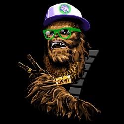 tee shirt hip hop chewie  sublimation