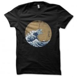 t-shirt hokusai gojira...