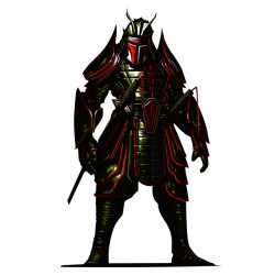 tee shirt Samurai Fett...