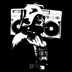 Darth Vader music t-shirt black sublimation