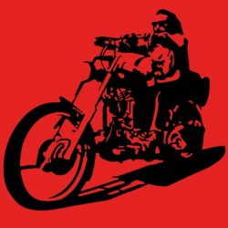t-shirt rider moto custom anarchy red sublimation