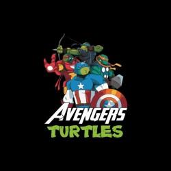 Tee shirt Tortues Ninja parodie Avengers  sublimation