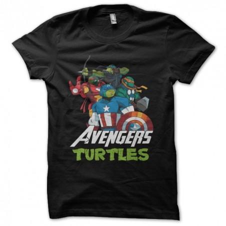 T-shirt Ninja Turtles parody Avengers black sublimation