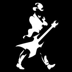 t-shirt rock music black sublimation