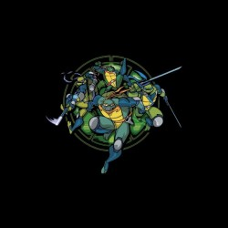 Ninja Turtles artwork black...