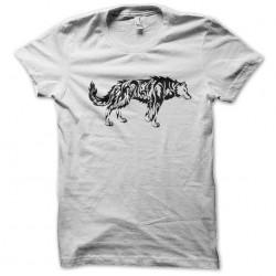 tee shirt wolf tattoo white...