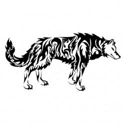 tee shirt wolf tattoo white sublimation