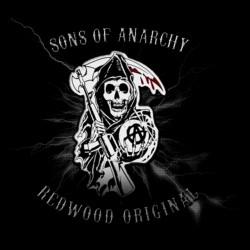 t-shirt sounds of anarchy logo design black sublimation