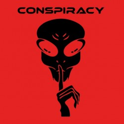 red sublimation conspiracy tee shirt