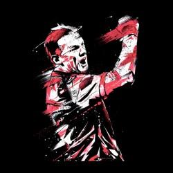 Wayne Rooney t-shirt design black sublimation