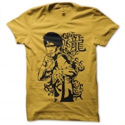 t-shirt bruce lee yellow...