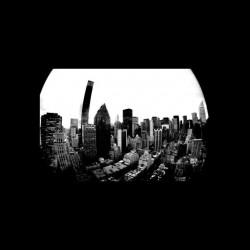 New York buildings black...