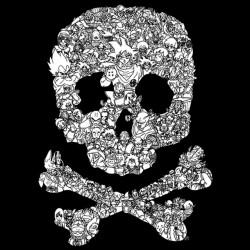 dragonball skull tee shirt black sublimation
