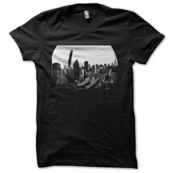 New York buildings black sublimation t-shirt