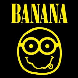 Banana minions black sublimation t-shirt