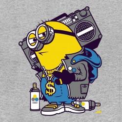 tee shirt hiphop minion gris sublimation