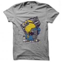 hiphop t-shirt minion gray...