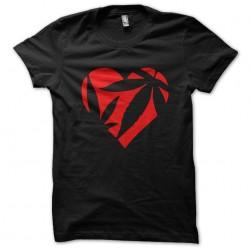 shirt Marijuana Heart black sublimation
