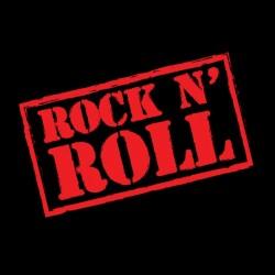 t-shirt rock n roll black sublimation