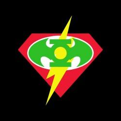 super hero logos black sublimation tee shirt