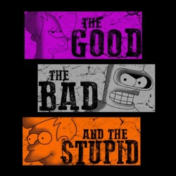 t-shirt the good the bad and the stupid black sublimation