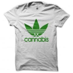 white sublimation cannabis t-shirt