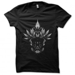 shirt cannabis skull black sublimation